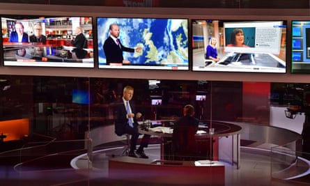 Oliver Dowden is interviewed by Andrew Marr at the BBC studios.