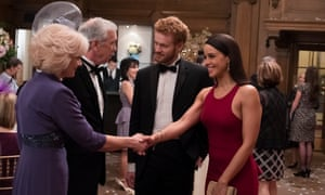 Parisa Fitz-Henley and Murray Fraser in Harry & Meghan: A Royal Romance.