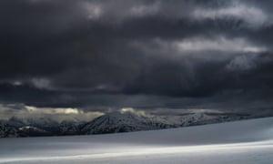Creag Meagaidh mountain in Scotland.