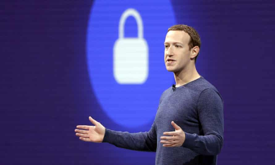 Mark Zuckerberg delivers the keynote speech at F8, Facebook's developer conference in February.