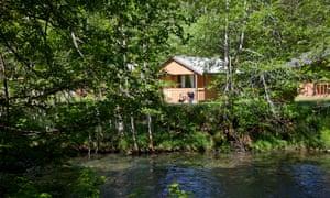 A waterside cabin at Sol Duc Hot Springs Resort.