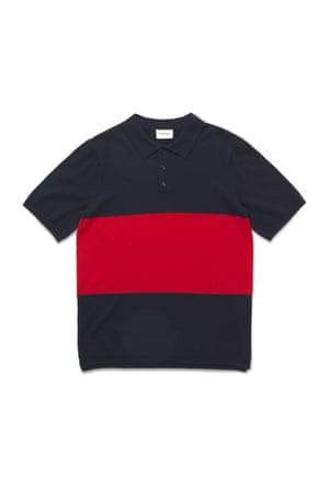 Block colour polo shirt