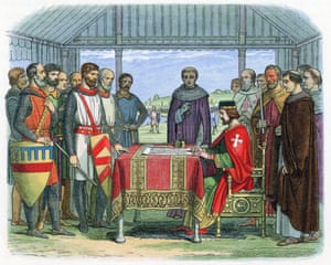 Depiction of the signing of the Magna Carta
