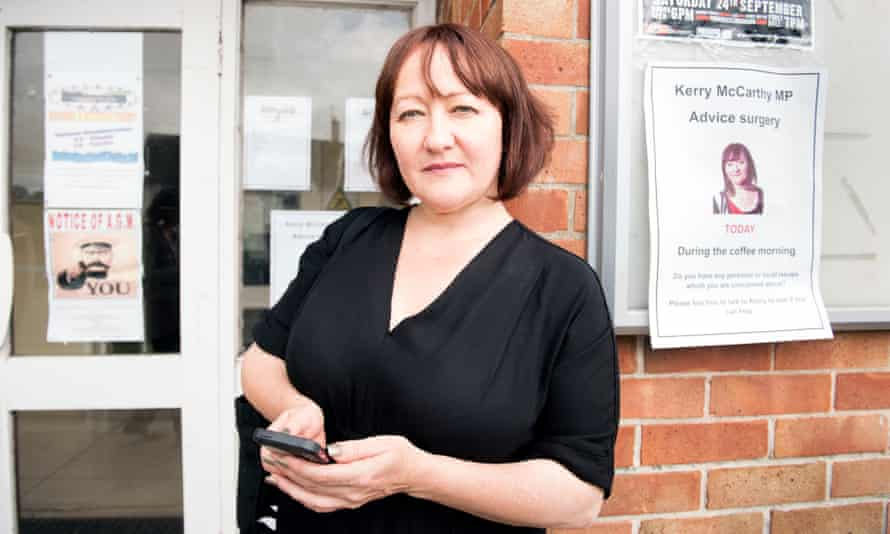 Bristol East MP Kerry McCarthy after a constituency surgery. Her seat is 42nd on the Tories' target list.