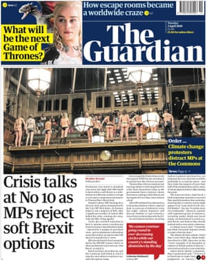Guardian front page, Tuesday 2 April 2019