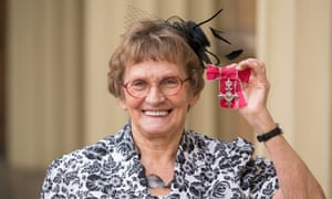 Enid Bakewell was awarded an MBE at Buckingham Palace in 2019.