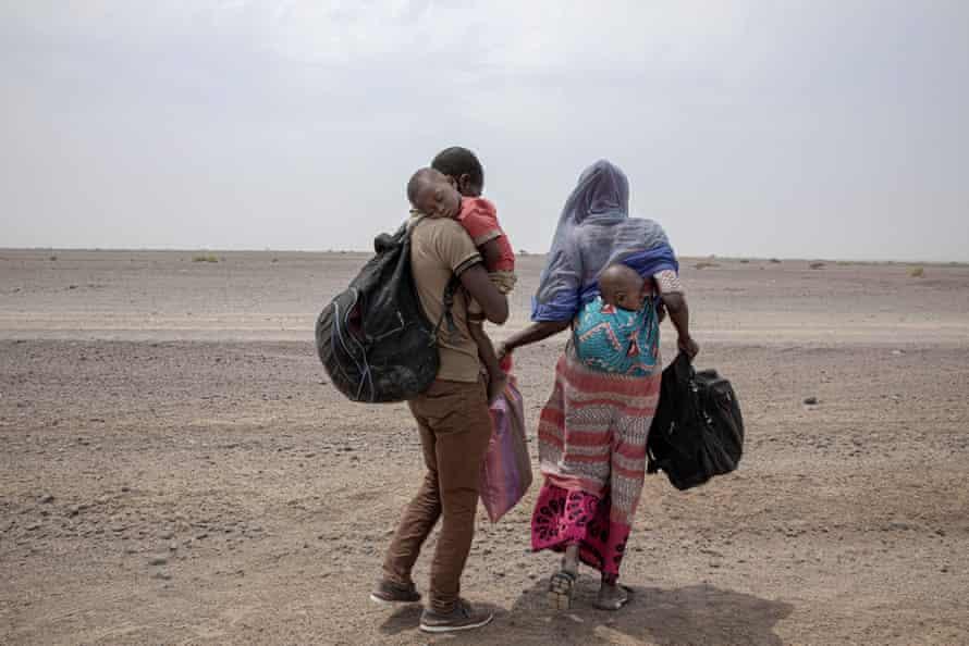 A family from Mali in Yemen, July 2019.