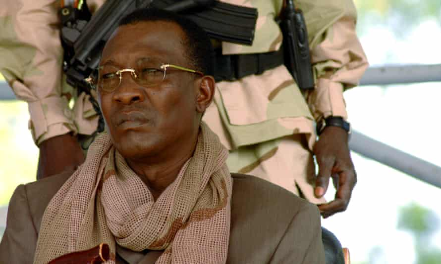 Idriss Déby watching a rally in N'Djamena in 2016.