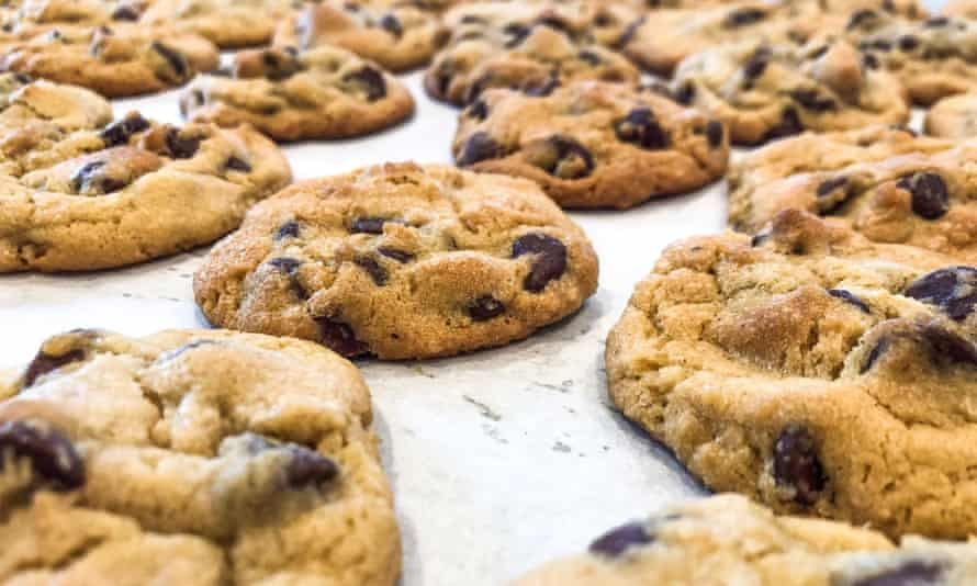 Ravneet Gill's first online lesson shows how to make these chocolate chip cookies.