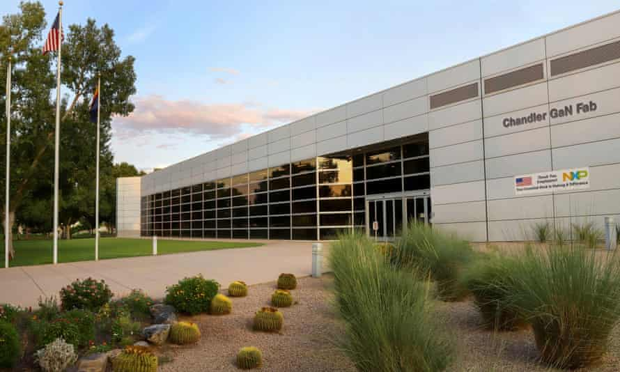 A semiconductor fabrication facility in Chandler, Arizona, US. There is a world shortage of semiconductor chips.