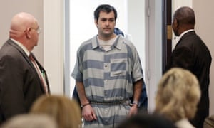 Former North Charleston police office Michael Slager, is lead into court, in Charleston, South Carolina on 10 September 2015.