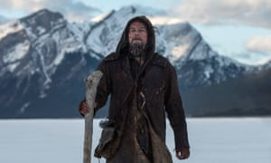 Leonardo DiCaprio as Hugh Glass in The Revenant