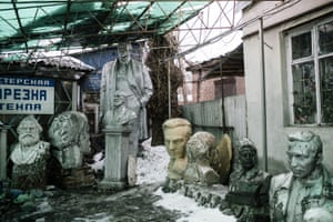 'This project started out of curiosity,' photographer Niels Ackerman explains. 'After the the statue of Lenin fell during Maidan [protests in Kiev], nobody cared what had become of it.' He teamed up with Sebastien Gobert to research where other statues were being pulled down and went to find their remains