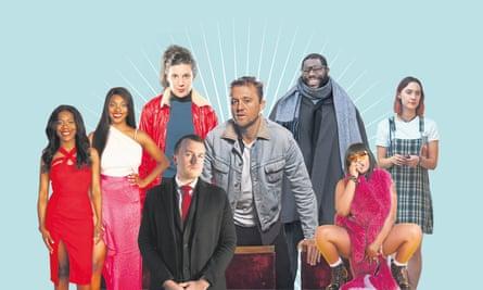 L-r: Elizabeth Uviebinene and Yomi Adegoke, Ellen McDougall, Liam Young, Michael Pearce, Steve McQueen, Stefflon Don, Saoirse Ronan.