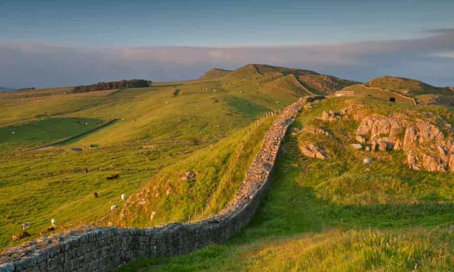 A stretch of Hadrian s Wall known as Thorny Doors near Caw Gap in the Northumberland National Park, England