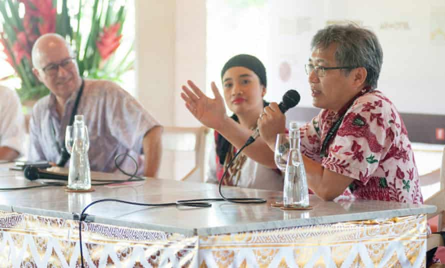 Andreas Harsano during the Uncensored session at Ubud Writers Festival 2015.