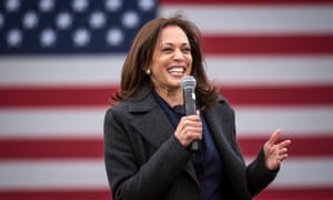 Democratic US vice presidential nominee Kamala Harris campaigns in Detroit, Michigan.