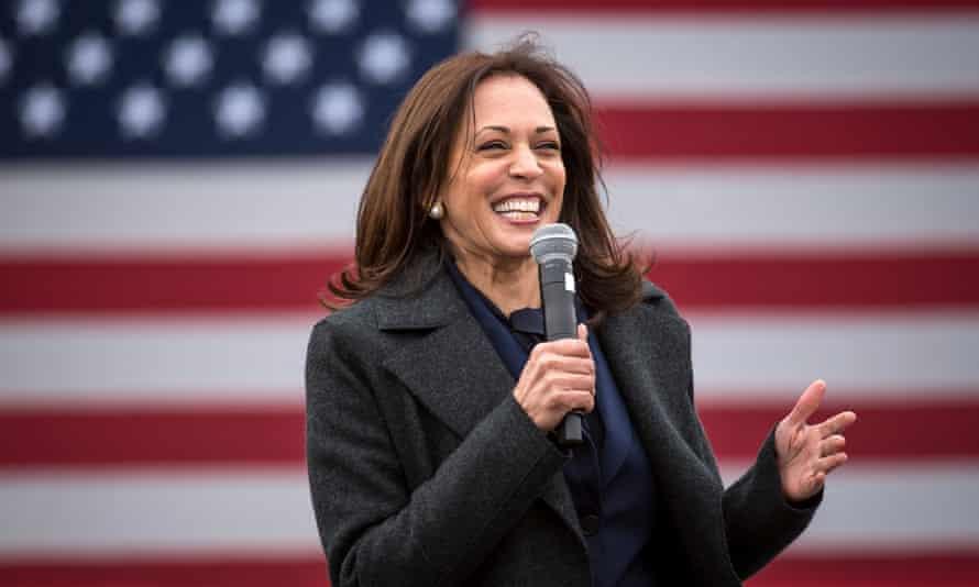 Democratic US vice presidential nominee Kamala Harris campaigns in Detroit, Michigan.