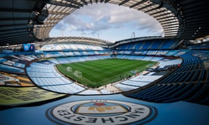 Manchester City's Etihad Stadium – the airline's sponsorship has cost the club green points.