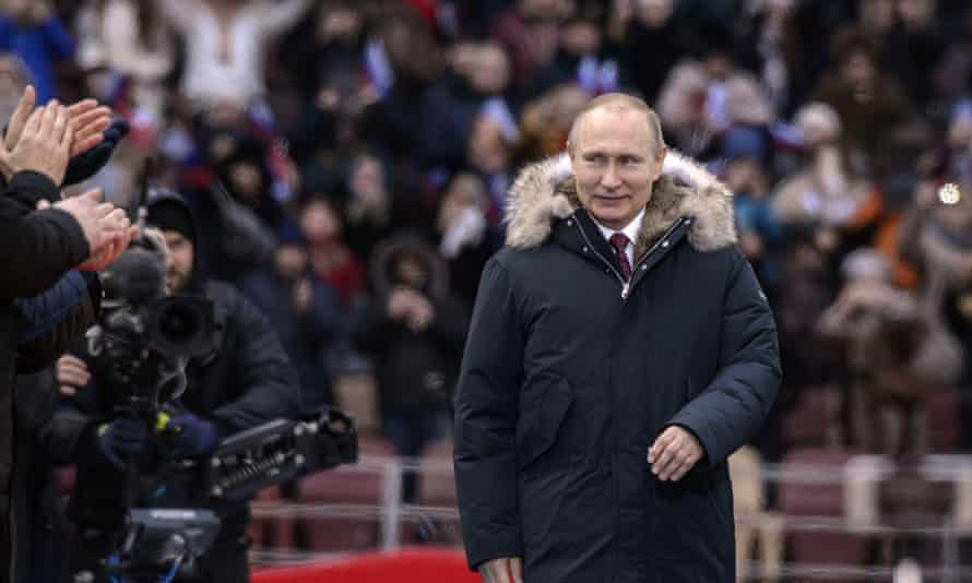 Putin pre-election rally in Moscow.