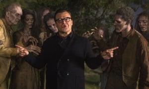 Jack Black as RL Stine in Goosebumps.