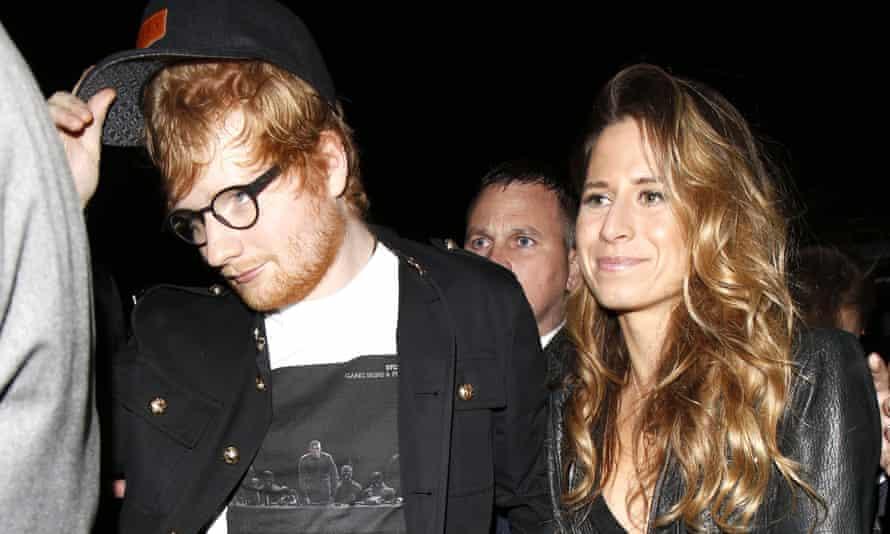 Ed Sheeran with long-term girlfriend Cherry Seaborn