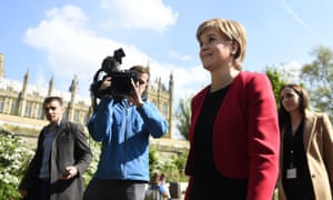 Scottish first minister Nicola Sturgeon in London on Wednesday.