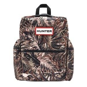 brown, black, white camouflage pattern rucksack Hunter