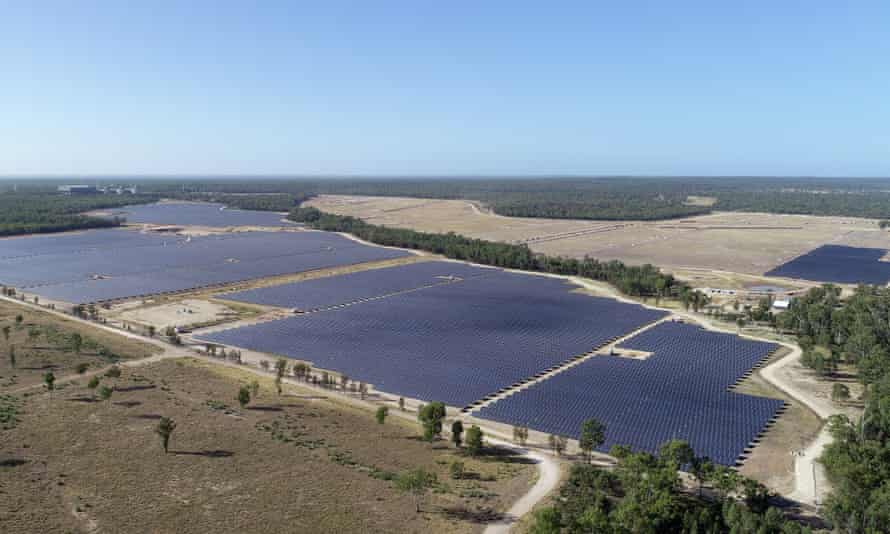 The Darling Downs solar farm in Queensland. The region, known for its coal and gas, has seen a rise in renewable energy projects
