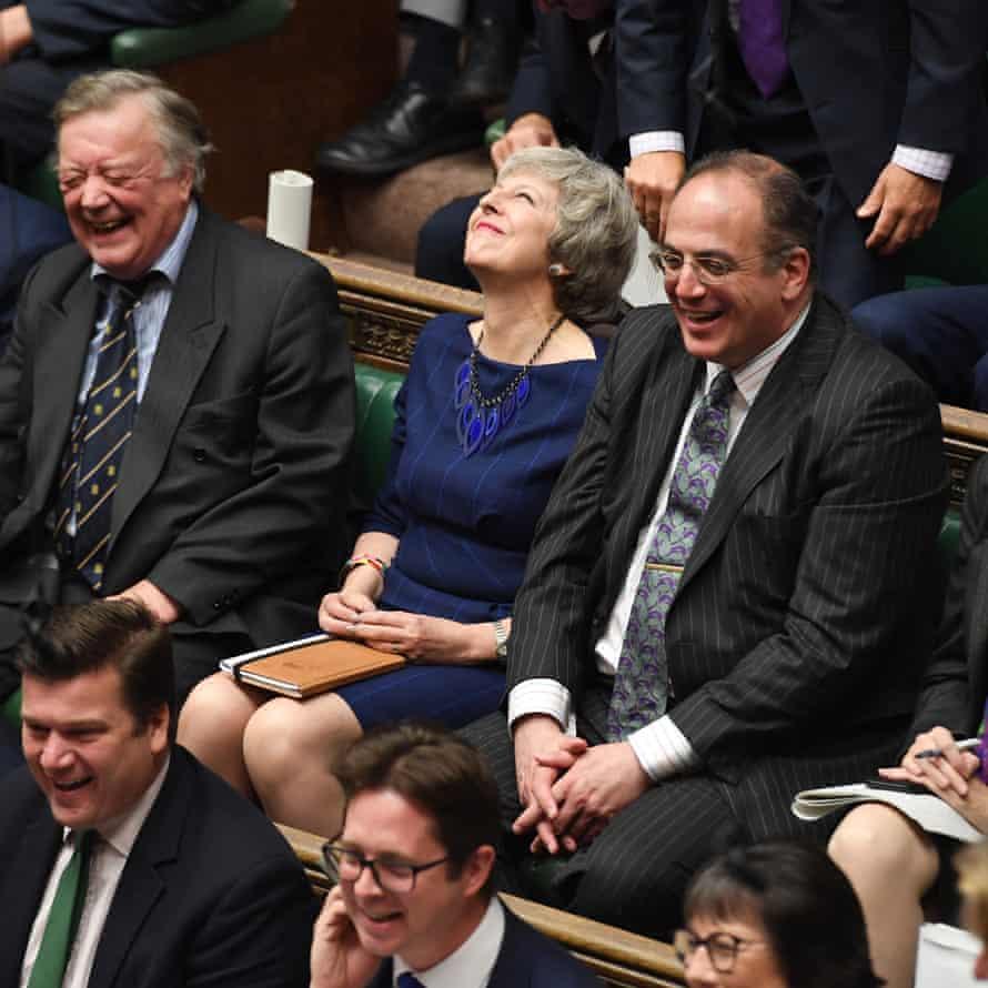 Theresa May during PMQs, 23 October