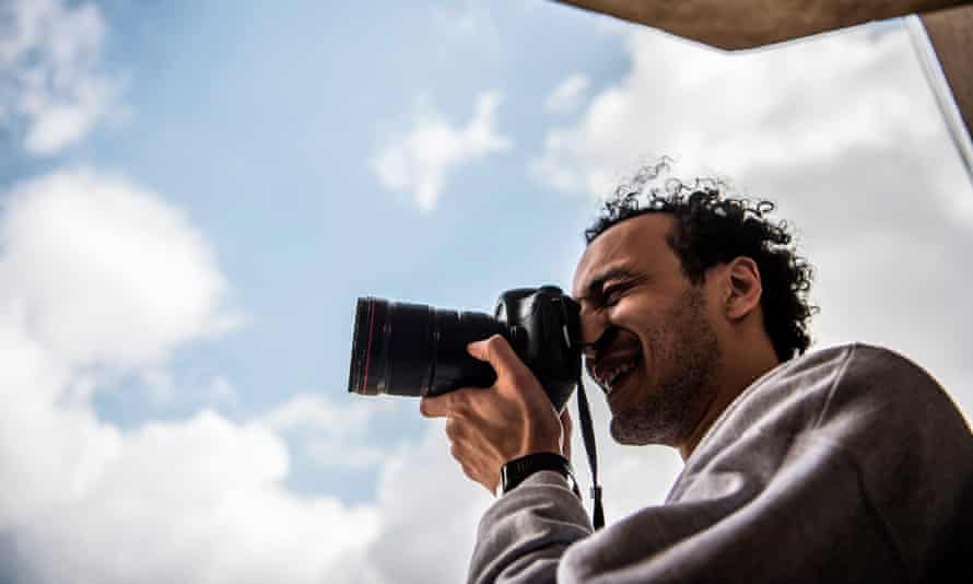 Mahmoud Abu Zeid, pictured after his release, will be required to sleep at his local police station every night.