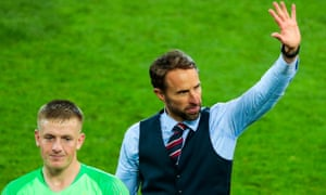 Southgate with hero Jordan Pickford after England owned the process of penalties against Colombia