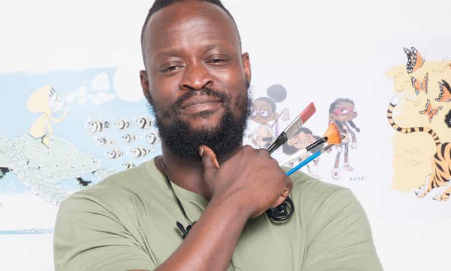 British-Nigerian children's writer Dapo Adeola.