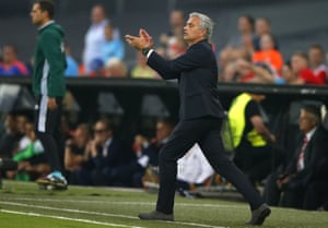 Not too much for Mourinho to applaud in that first half.