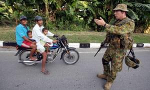 An Australian soldier in East Timor, 2006.