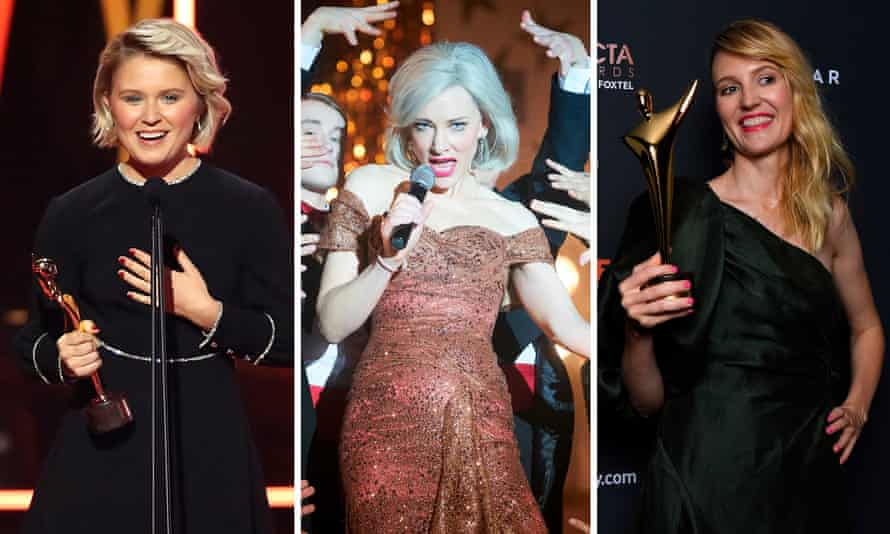 Eliza Scanlen, Cate Blanchett and Shannon Murphy, who won big at the 2020 Aactas.