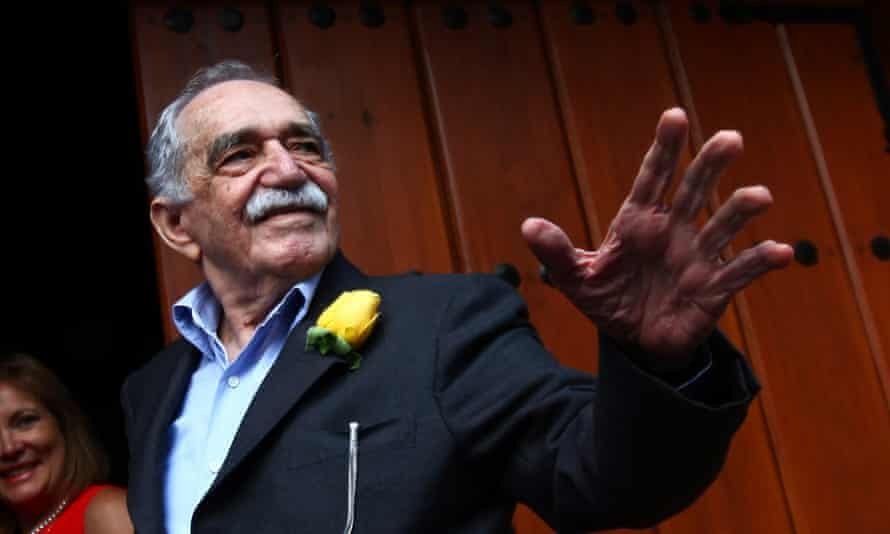 Gabriel Garcia Marquez outside his house in Mexico City in 2014.