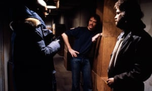 Keith David, John Carpenter and Kurt Russell in The Thing.