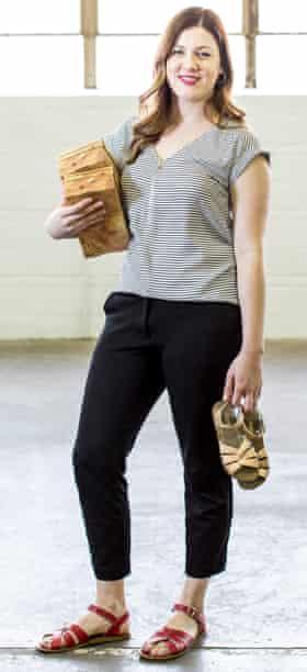 Kaitlin Gebel, PR director of Salt-Water shoe company