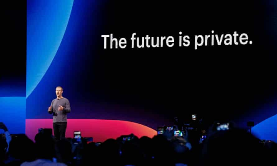 Mark Zuckerberg announcing new Facebook, Messenger, WhatsApp, and Instagram privacy features on 30 April.