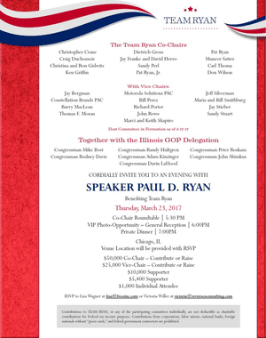The invite from 'Team Ryan'.