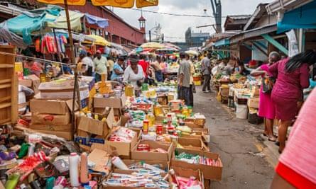 Stabroek market in Georgetown, Guyana.