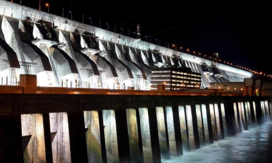 The Itaipu hydroelectric dam stands along the Parana River in Foz do Iguacu, Brazil.
