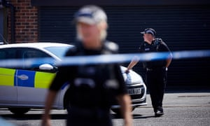 BLACKBURN, 20 May 2020 - The scene in Blackburn where Aya Hachem, a 19 year old law student, was shot and killed last Sunday. Christopher Thomond for The Guardian.