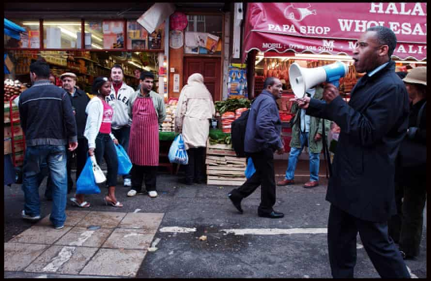 Woolley in Brixton working with Operation Black Vote in 2005.