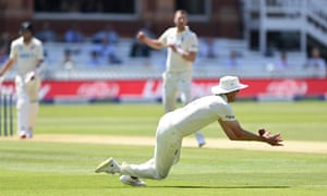 Stuart Broad of England drops Tim Southee of New Zealand off Ollie Robinson