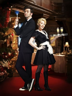 David Tennant as the Doctor and Kylie Minogue as Astrid Peth in Doctor Who