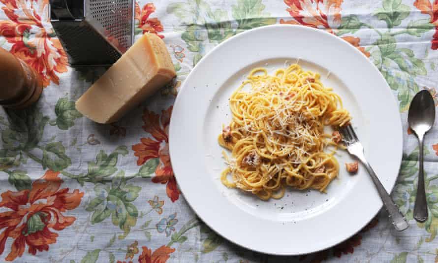 Pasta perfect … a classic spaghetti carbonara.