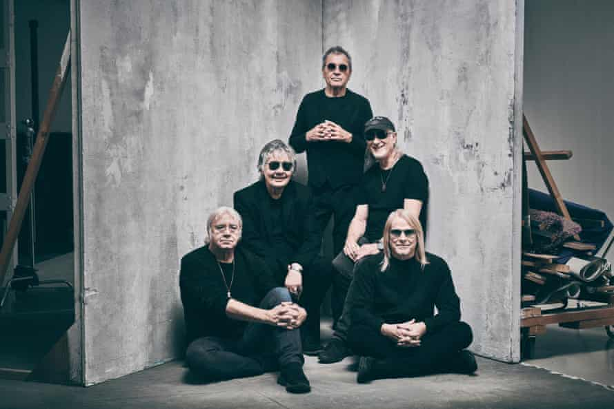 Ian Paice, Don Airey, Ian Gillan (standing) Roger Glover and Steve Morse of Deep Purple, pictured in December 2019.