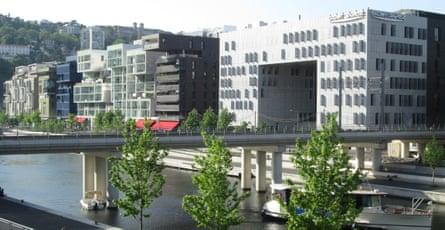 Elegant and modern … Lyon's 'Island' complexes.